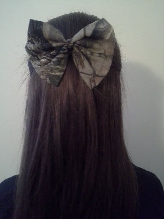 Realtree Camo Hair Bow by ThePreppyBowShop.. Cheerleaders love their bows!!