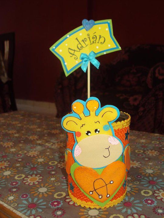 Portalapiceros latas decoradas souvenirs para ni os de for Manualidades para jardin