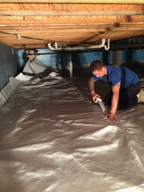 Easy to install crawl space vapor barrier Viper CS. Keep moisture out of your crawl space!