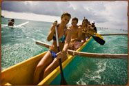Outrigger canoe on Oahu