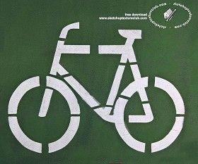 Textures Road markings bike path 18763 | Textures - ARCHITECTURE - ROADS - Roads Markings | Sketchuptexture