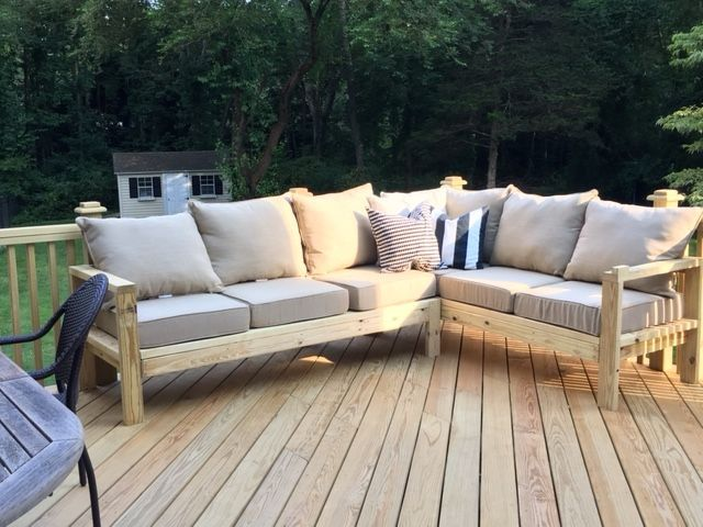 Ana White Outdoor Sofa With One Arm Piece To Make Sectional Diy Projects Roomideasapartment Club In 2020 Diy Outdoor Furniture Outdoor Sofa Diy Outdoor Furniture Plans
