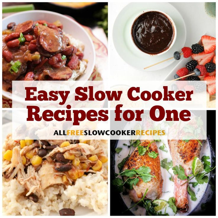 Best 25 recipes for one person ideas on pinterest dinner for 11 easy slow cooker recipes for one forumfinder Images