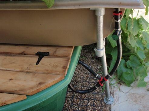 Closeup Of Tank Harness (plumbing) For Patio Garden
