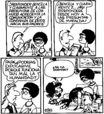 El otro día andaba viendo en Google unos chistes de Mafalda... que grosa esa historieta!!! La leyeron mis viejos, la leí yo y seguro la leen...