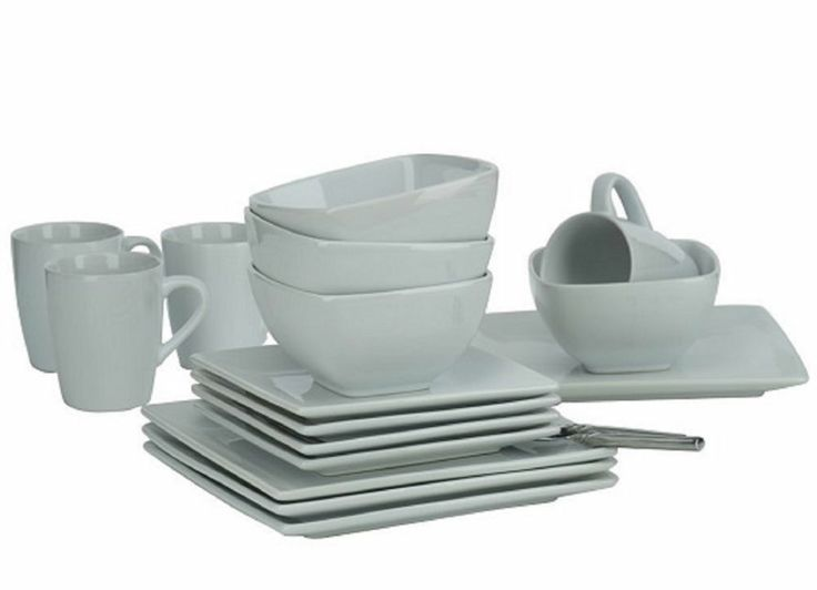 Ethos Diffusion White Dinner Set Square Plates Bowls Mugs Cups New Dinnerware Sc 1 St Pinterest