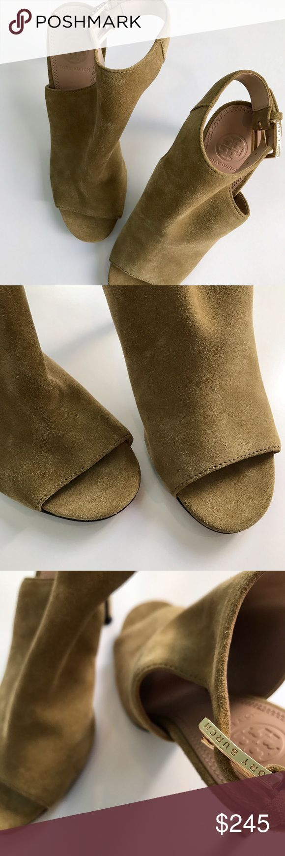 Tory Butch Britannia Heels - Like New!!! Tory Butch Britannia heels in a beautiful shade of green. Only worn once! Retail $395! Tory Burch Shoes Heels