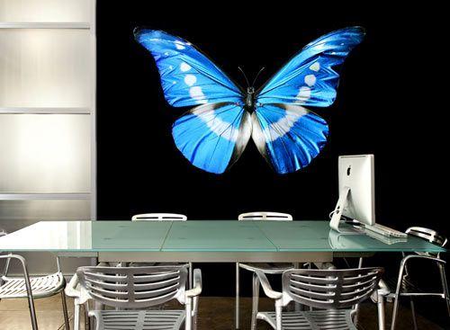Wallflower Photographic Wall Decals.: Wall Photo, Wall Art, Blue Butterflies, Mark Put, Butterflies Wall, Hobbies Rooms, Wall Decals, Wallflower Decals, Art Decals