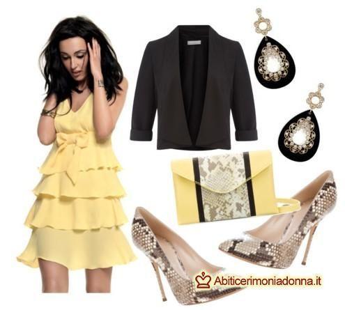 Vestito giallo e bianco eldorado