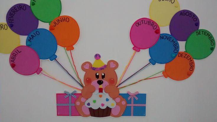 mural de aniversariantes educação infantl - Pesquisa Google