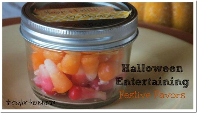 Halloween Entertaining: Festive Favors for Adults #sponsored #Halloween #Halloweencrafts