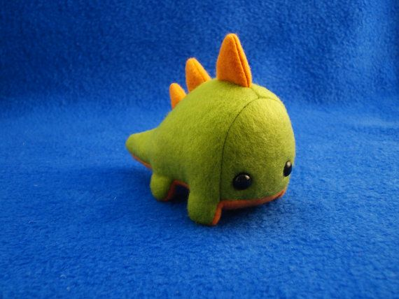 Um. Why don't I own this tiny adorable dino yet?  That's what I would like to know.  #Plush #Dinosaur #Vickangaroo $12