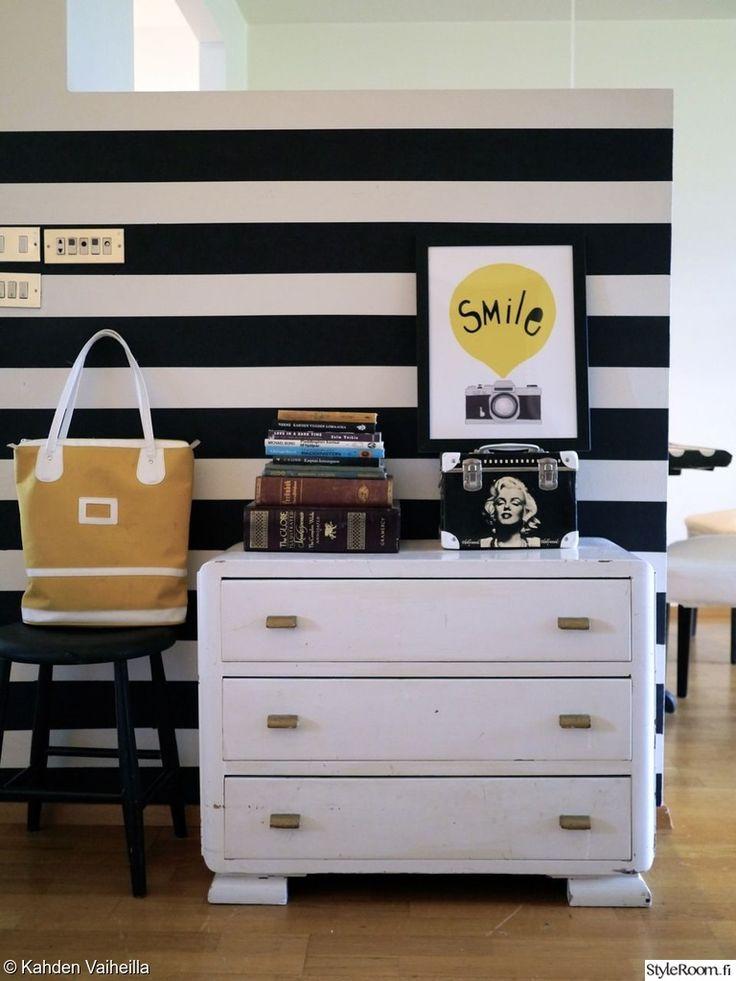 mustavalkoinen,lipasto,tapetti,jakkara,säilytys,design,taulu,koriste-esineet,asetelma