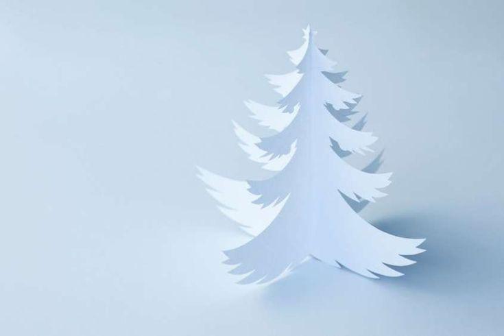 Alberi di Natale di carta per bambini - Albero di Natale di carta