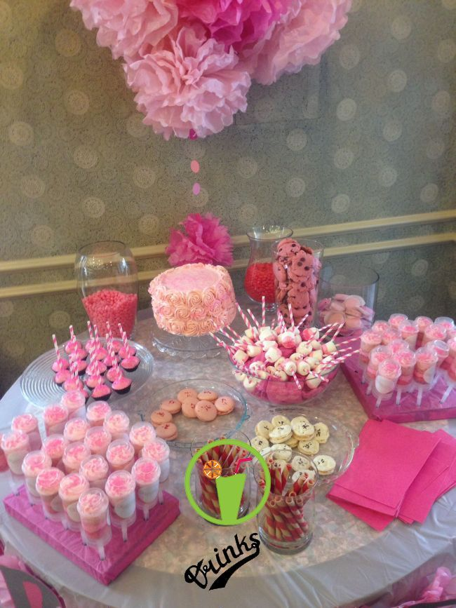 My Baby Girl 39 S Pink Sweets Table On Her Christening Christening In 2019 Pinterest Baby Shower Desserts Girl Pink Dessert Tables Pink Baby Shower Cake