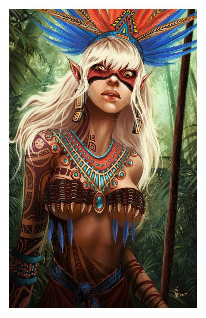 Tribal Elf by ~HELMUTTT on deviantART