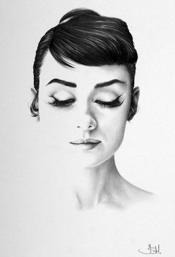 Classic Half-Erased Charcoal Drawings of Celebrities - My Modern Metropolis