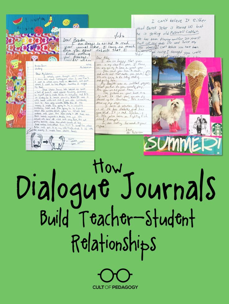 Dialogue journals are a powerful tool for building trust with your students. Learn how they work. | Cult of Pedagogy