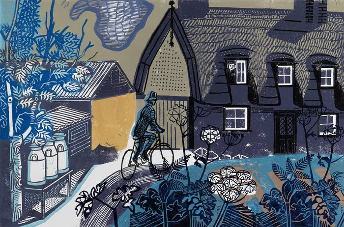 Edward Bawden - The Road to Thaxted. Fine Art Society.