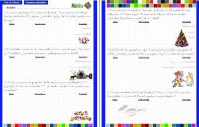 Colección de problemas para 2º de Primaria en PDF e Interactivos ideales para PDI