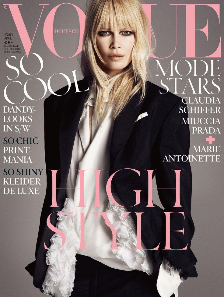 Claudia Schiffer by Luigi + Iango Vogue Deutsch April 2014