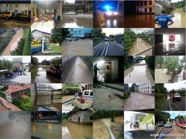 Thanks to the UN Volunteers of civil defence of Monza and Brianza for Emergency work done during bad weather in July.