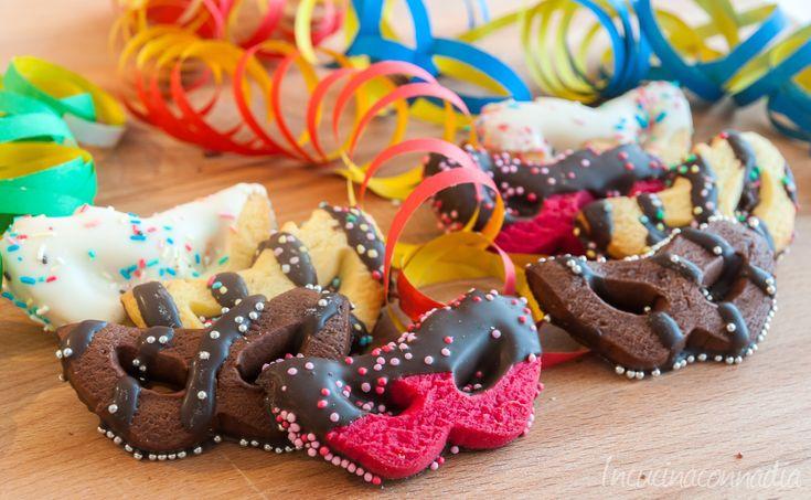 #mascherine di #carnevale #colorate di #pastafrolla