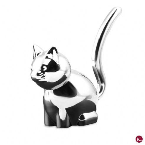 Simpatico gattino in metallo. Porta-anelli. Ideale come bomboniera per legarci il classico sacchettino di confetti. Economico.  http://www.makregadget.it/casa_e_hobby/casa_accessori/porta_anelli_salma_4323.asp