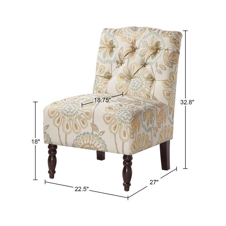 Lola Tufted Armless Chair,