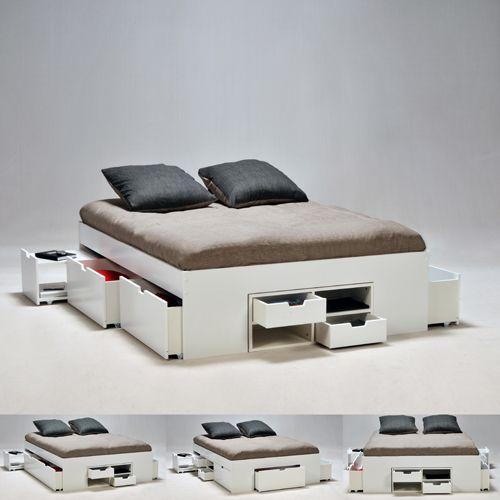 Les 25 meilleures id es de la cat gorie lit coffre sur pinterest coffre de - Lit avec tiroir adulte ...