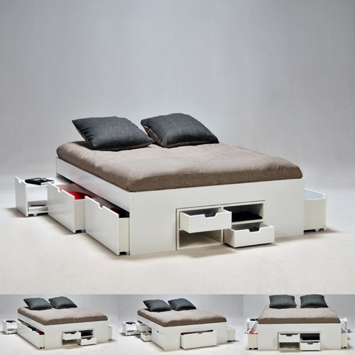 17 meilleures id es propos de lit rangement sur pinterest petit stockage - Plateforme de lit double ...
