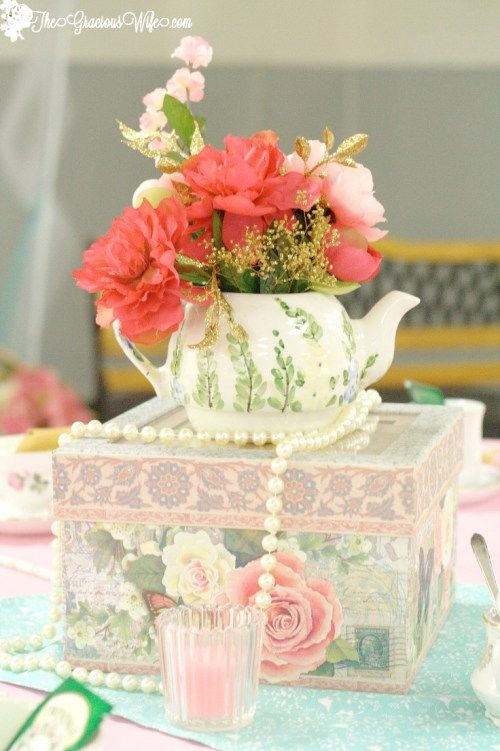 Best ideas about tea party centerpieces on pinterest