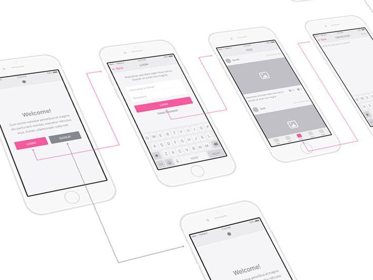 Snap UI kit - iOS Wireframes