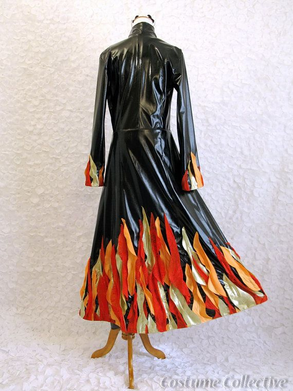 devil woman catching fire womens halloween by costumecollective - Fire Girl Halloween Costume