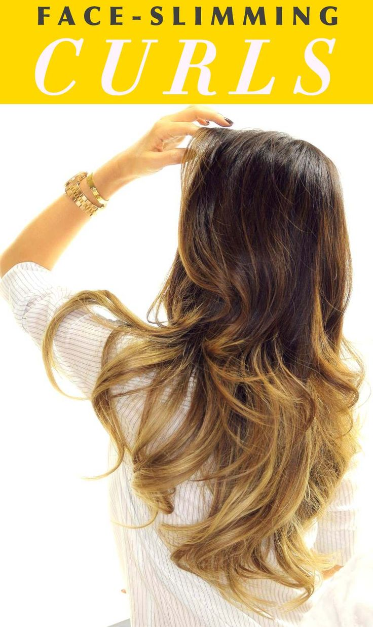 How to curl your hair to make your face thinner
