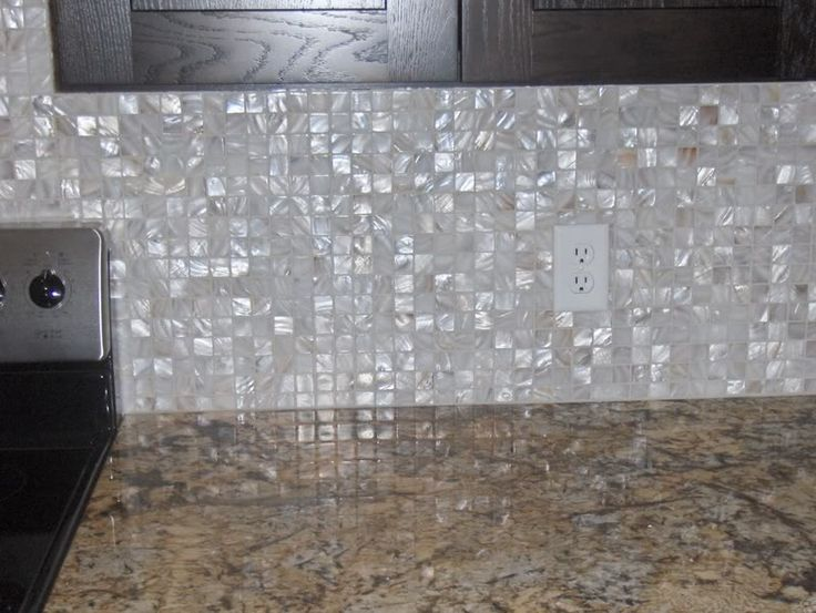 Love This Mother Of Pearl Backsplash Kitchen