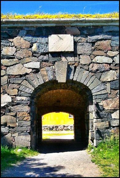 Rock wall at Suomenlinna