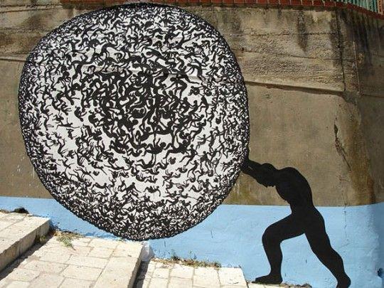 Street art - a leglátványosabb 3 dimenziós épületfestmények! - http://www.otthon24.hu/street-art-a-leglatvanyosabb-3-dimenzios-epuletfestmenyek/