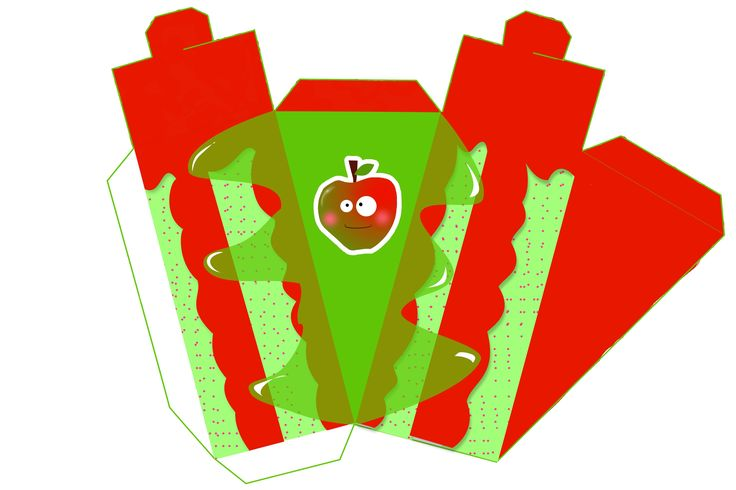 Apple Free Printable Paper Fruit Cakes Box
