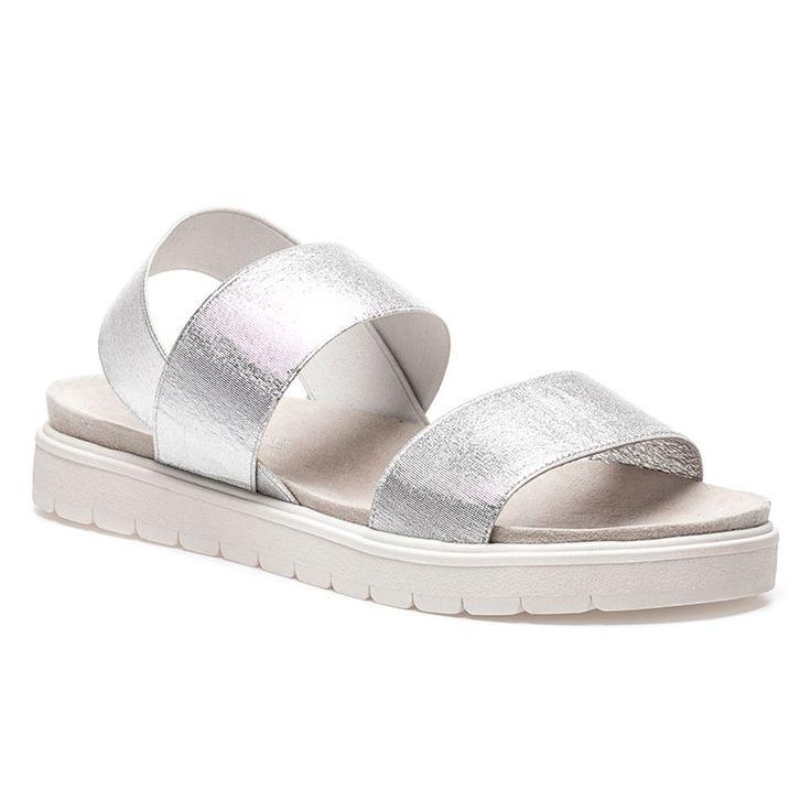 SHELBY Silver Stretch Sandal - $19.75