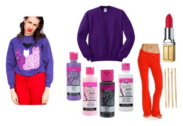 """""""30 Days of Halloween- Miranda Sings Costume Idea"""" by jennifer-priest on Polyvore featuring Wildfox, Cara and Elizabeth Arden"""