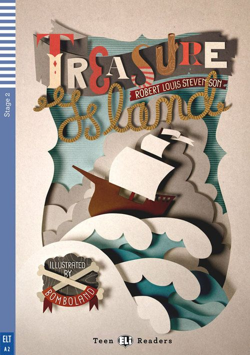 Treasure Island (Book Cover Design)by Bomboland.