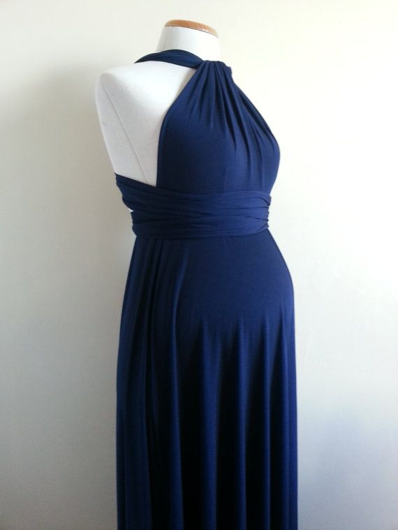 Night Blue Infinity Dress / Long Navy Blue Dress / by mimetik, $69.00