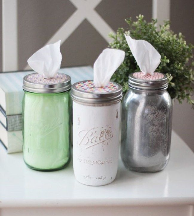 #Ideas creativas para #reciclar #tarros de cristal -  How dress up a glass #DIY…