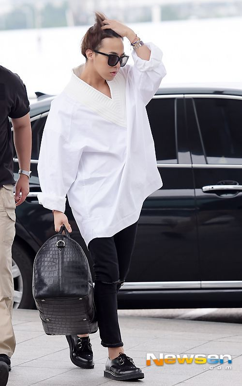 G-Dragon ♡ #BIGBANG - AIRPORT FASHION // Incheon Airport 140807