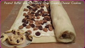 best yumy recipes: Peanut Butter & Chocolate Chip Cream Cheese Cookies