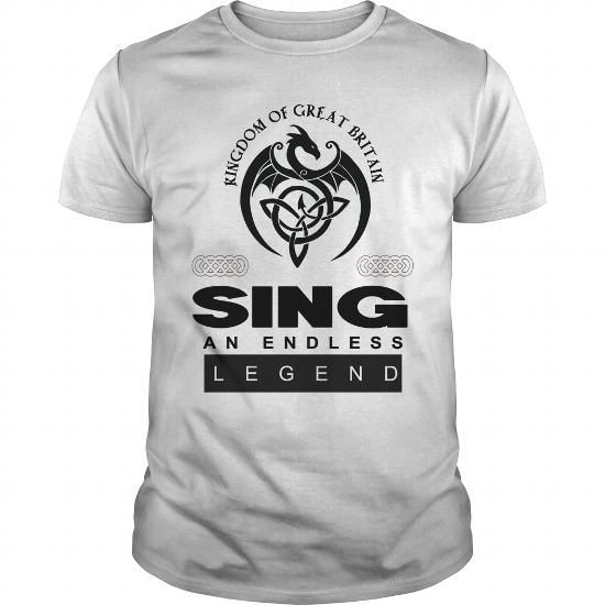 I Love  Kingdom of great britain SING AN ENDLESS LEGEND T Shirt Design T shirts