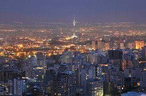 Iran Tourism Push: View of Tehran with Milad Tower at sunset in Iran