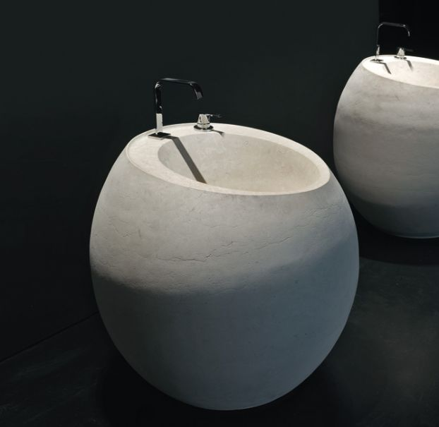 Freestanding Moonstone Washbasin OPIUM By Antonio Lupi Design Design Carlo  Colombo