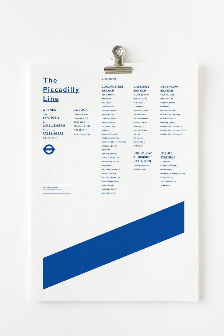 <p>London Underground graphic is a collection of 11 posters developed by Australian graphic designer and artistic director Nick Barclay. Featuring perfectly minimalistic and striking typography and gr